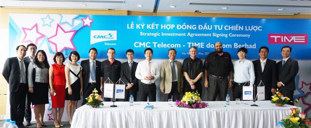 CMC Telecom ký kết hợp đồng đầu tư chiến lược TIMEdotCom